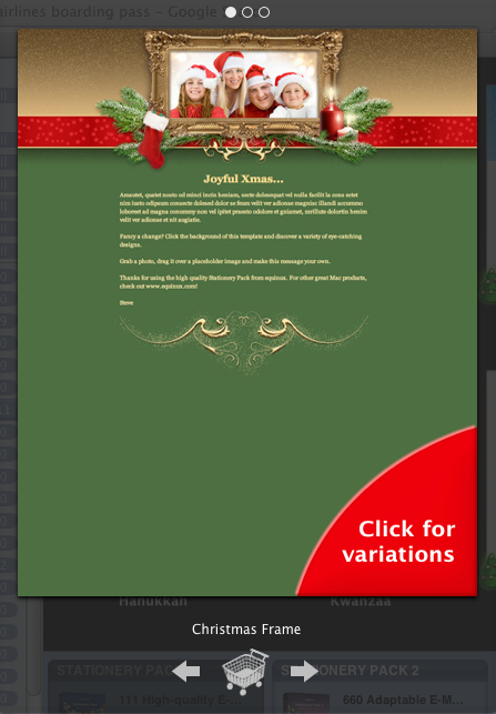 Using mails stationery for seasons greetings applematters using mails stationery for seasons greetings m4hsunfo