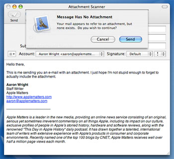 Sending Email for Job Application http://www.applematters.com/article ...